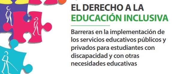 Informe Defensorial Nº 183 – El Derecho a la Educación Inclusiva